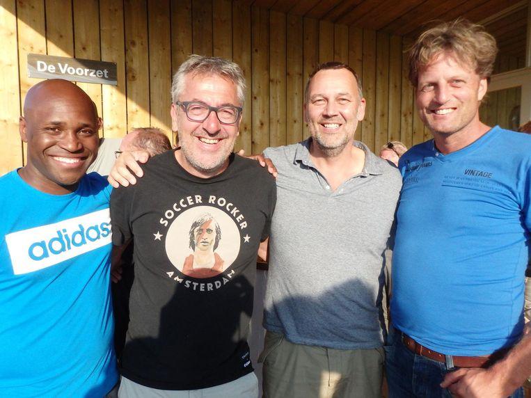 Romeo Lensa, Sjaak Tersteeg, Ed van de Wijgerd en Marcel Bouw (vlnr), allen actief bij WV Beeld Schuim