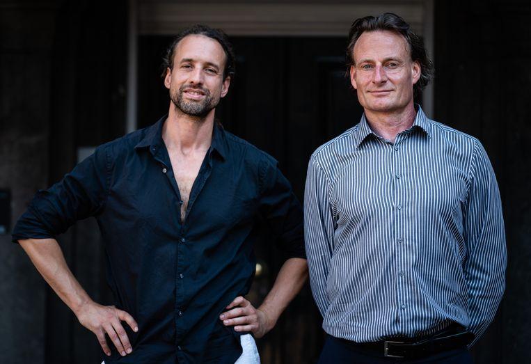 Willem Engel (L) en Jeroen Pols, advocaat.  Beeld Hollandse Hoogte /  ANP