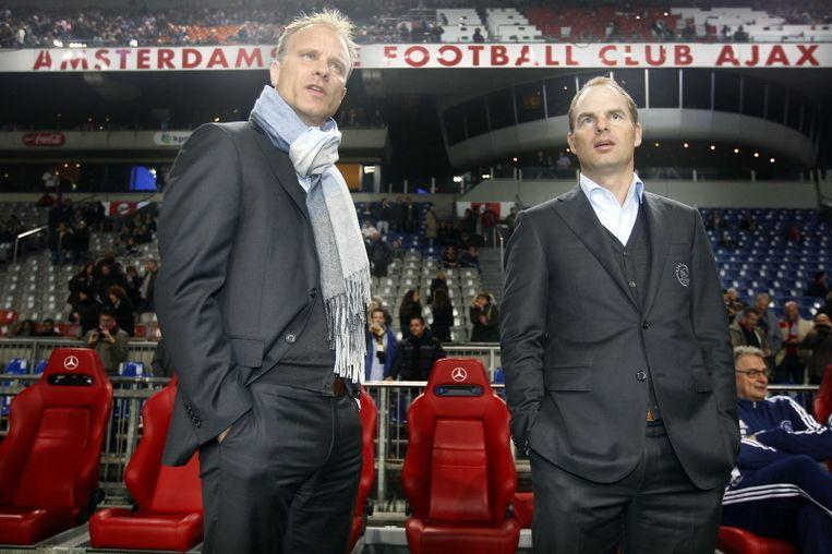 Dennis Bergkamp (l) en Frank de Boer (r). Beeld PRO SHOTS