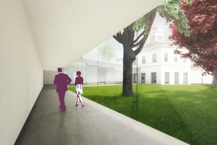 Een impressie van de uitbreiding van Museum Arnhem door Benthem Crouwel Architects.