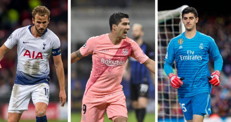 Kane, Suarez, Courtois