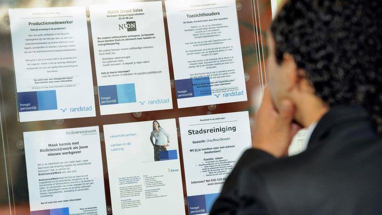 Vorige maand waren er 550.000 werklozen. Beeld anp