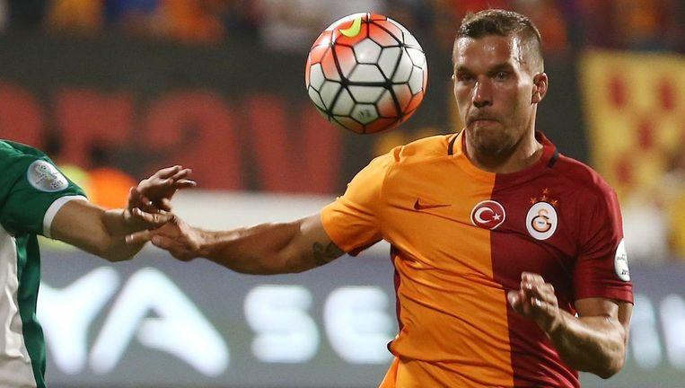 Podolski maakte de gelijkmaker voor Galatasaray. Beeld AFP