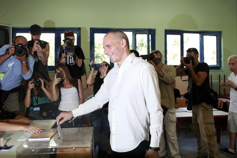 Yanis Varoufakis brengt zijn stem uit Beeld REUTERS
