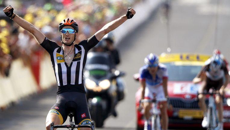 MTN Qhubeka-renner Stephen Cummings won afgelopen zomer een etappe in de Tour de France Beeld anp