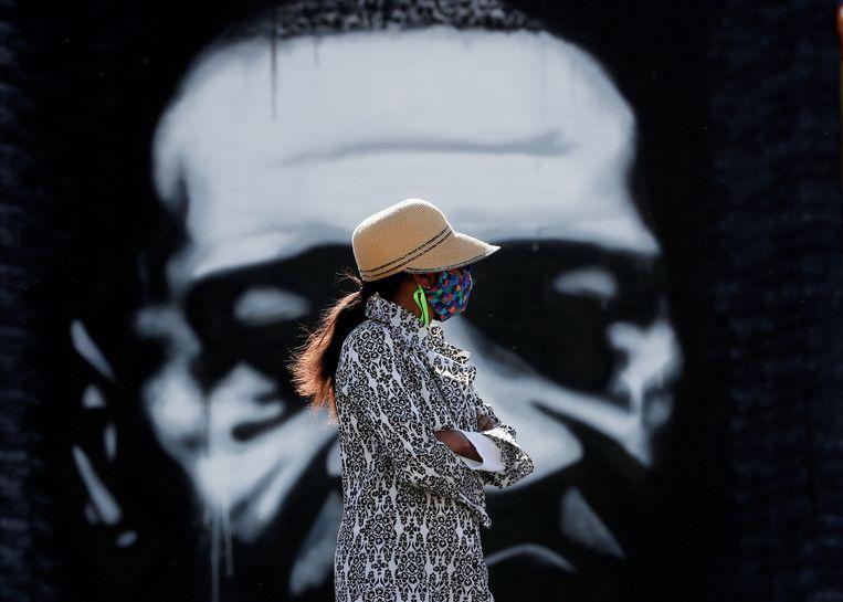 De VN begon aan het rapport na de dood van de zwarte Amerikaan George Floyd in mei 2020 aan de gevolgen van politiegeweld. Beeld REUTERS