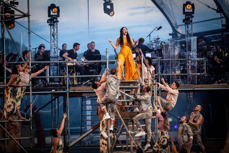 April Darby als Aida in Aida in Concert. Beeld Elco van den Donker