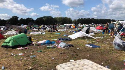 """Pukkelpop, na het festival het stort: """"Ja, er is nog afval, maar het gaat elk jaar beter"""""""