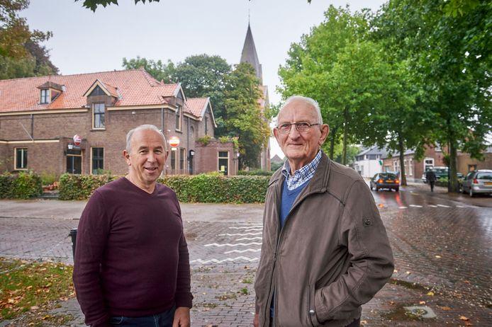 Voorzitter Wouter van Boggelen van de dorpsraad Keldonk en Toon van der Heijden, een van de oprichters en oud-voorzitter.