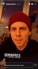 Mike Weerts in een video op Instagram.