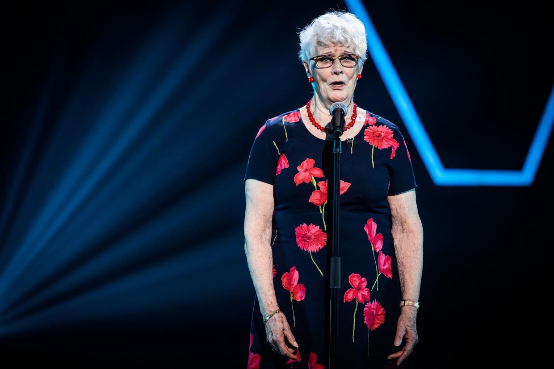 Doortje (80) in 'The Voice Senior' Beeld DPG Media