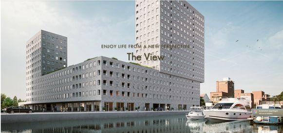Een toekomstbeeld van The View aan de Vaartkom.