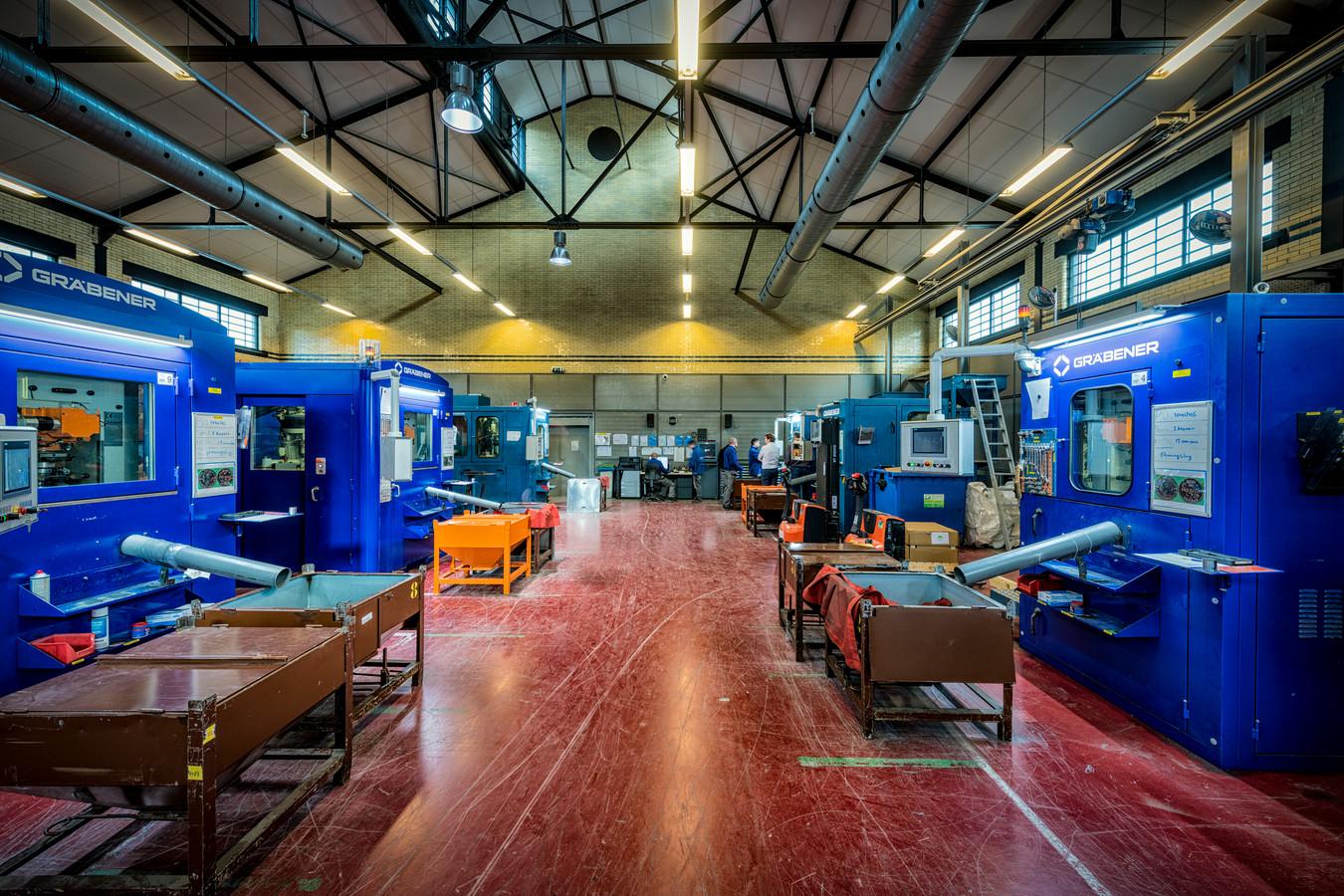 De oude productiehal in het gebouw aan de Leidseweg in het centrum van Utrecht.