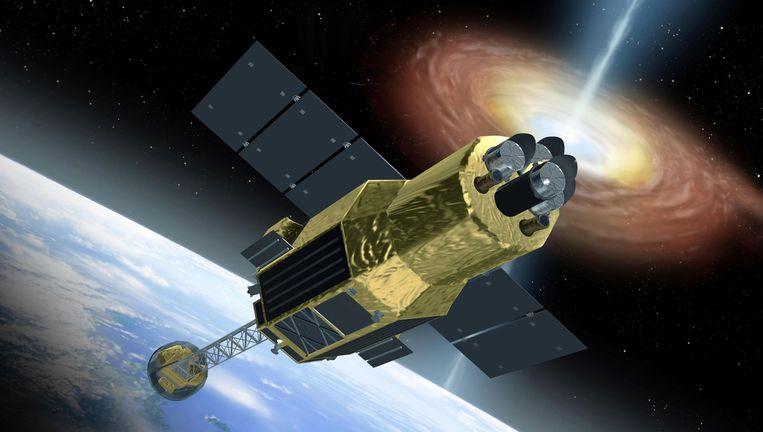 De Hitomi-satelliet. Beeld JAXA
