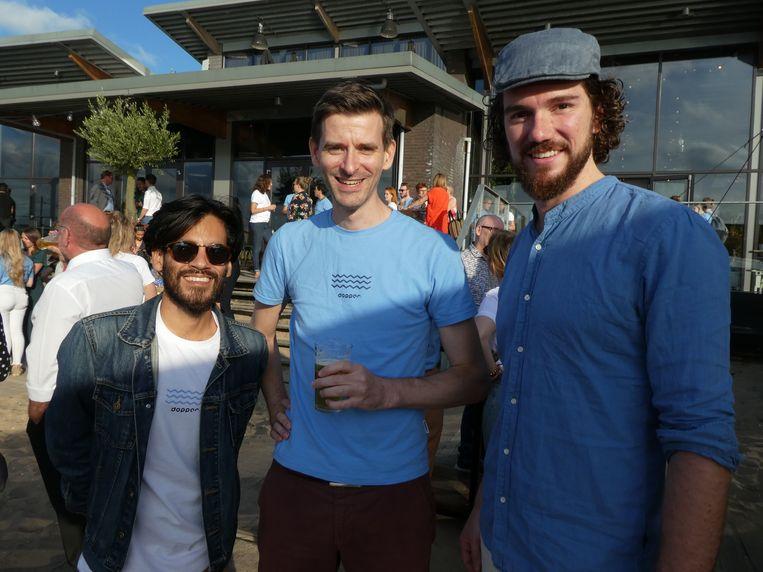 Filmmaker Andy Melo, productontwikkelaar Niels Heijman en Jeroen Wilms, impact analist.