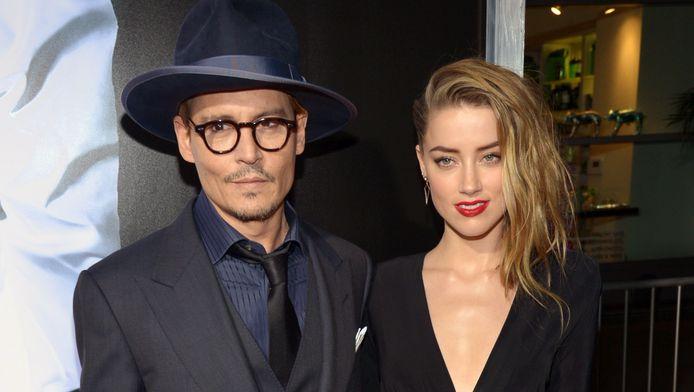 Amber Heard met haar verloofde Johnny Depp.