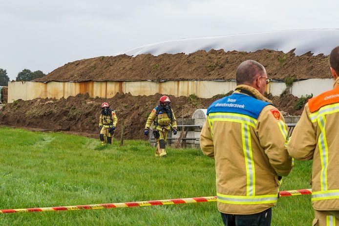 De brandweer liet de gassen gecontroleerd ontsnappen.