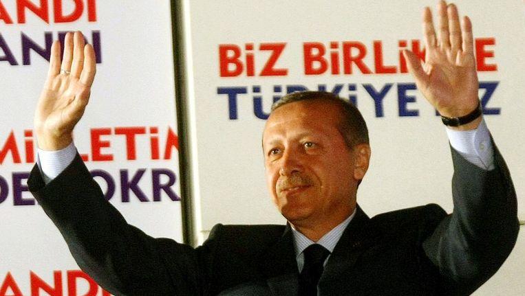 De Turkse premier Recep Tayyip Erdogan. Beeld afp