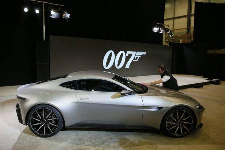 De Aston Martin DB10, speciaal gemaakt voor 'SPECTRE'. Beeld REUTERS