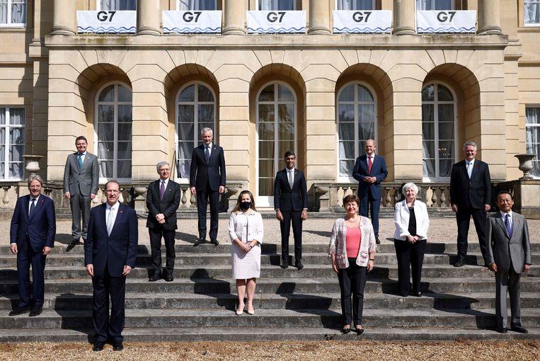 Zaterdagmiddag bereikten de zeven rijkste industrielanden (G7) een 'historisch akkoord' tegen belastingontwijking multinationals Beeld AFP