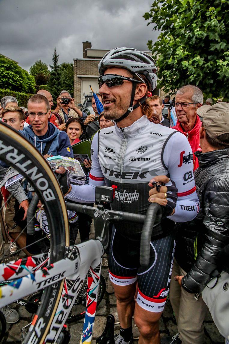 Alle aandacht gaat naar Cancellara tijdens zijn allerlaatste rit in België.