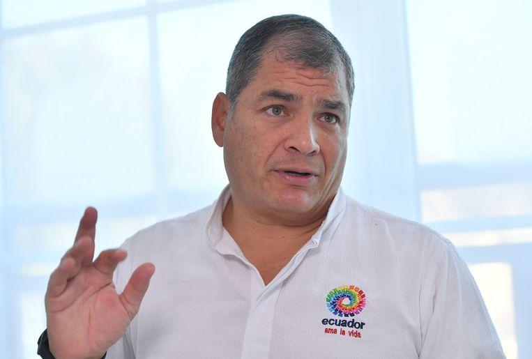 Rafael Correa. Beeld AFP