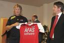 Bas van der Veldt van AFAS met oud AZ-coach Gert Jan Verbeek.