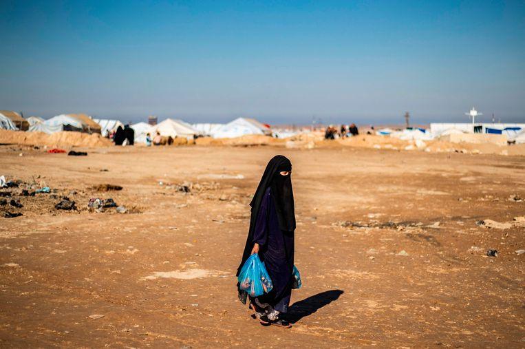 Beeld van januari dit jaar uit het vluchtelingenkamp Al-Hol. Beeld AFP
