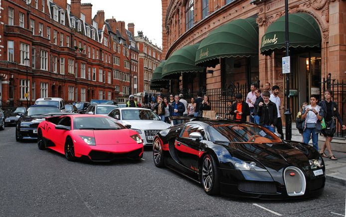 Supercars in Londen
