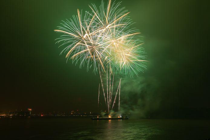 De vuurwerkshow van afgelopen jaarwisseling.