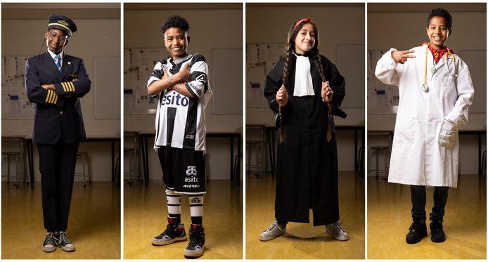 Basisschool Het Palet. Foto van AZC leerlingen. Wat is je droom?