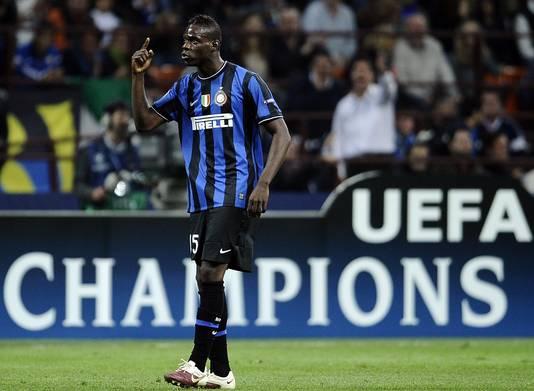Balotelli als speler van Inter.