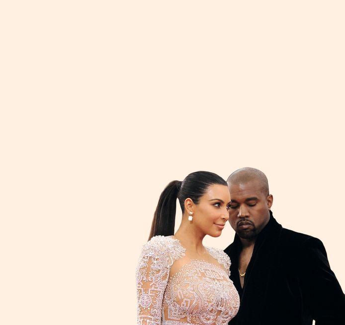 Kim Kardashian en Kanye West in gelukkigere tijden.
