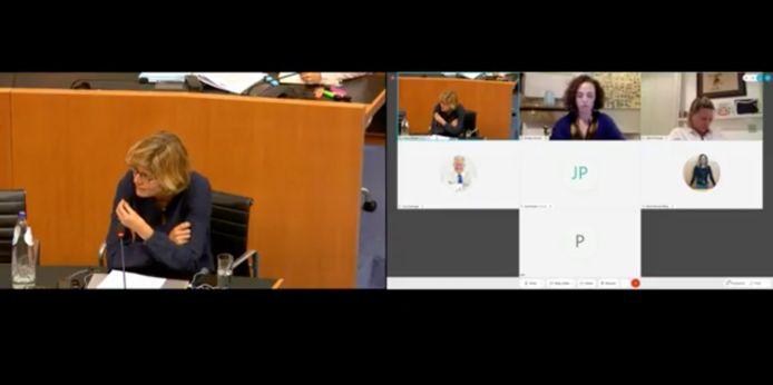 Inge Neven geeft uitleg in bijzondere commissie.