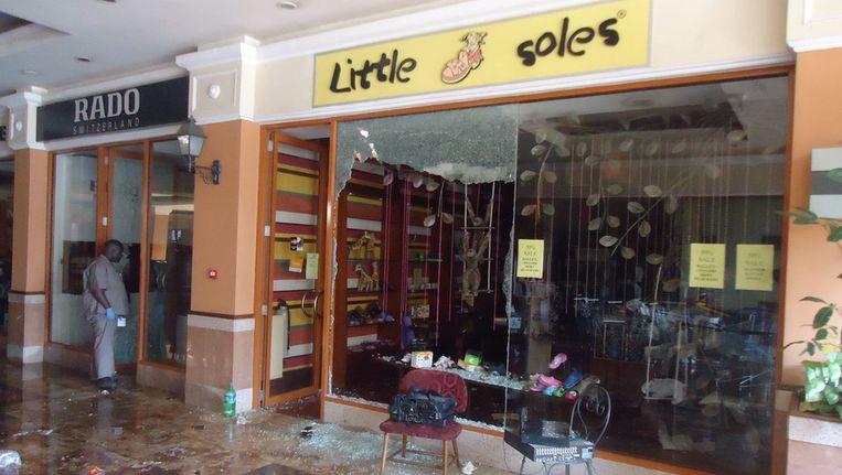 Winkels in de Westgate Mall na de terroristische actie van Al Shabaab. Beeld AP
