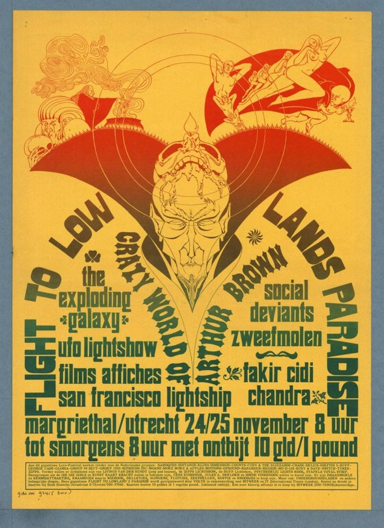 Affiche Lowlands 1968. Beeld