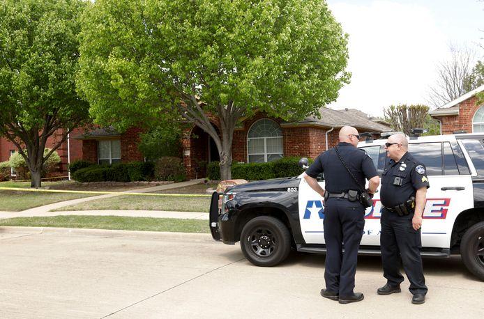 La police sur les lieux du carnage familial
