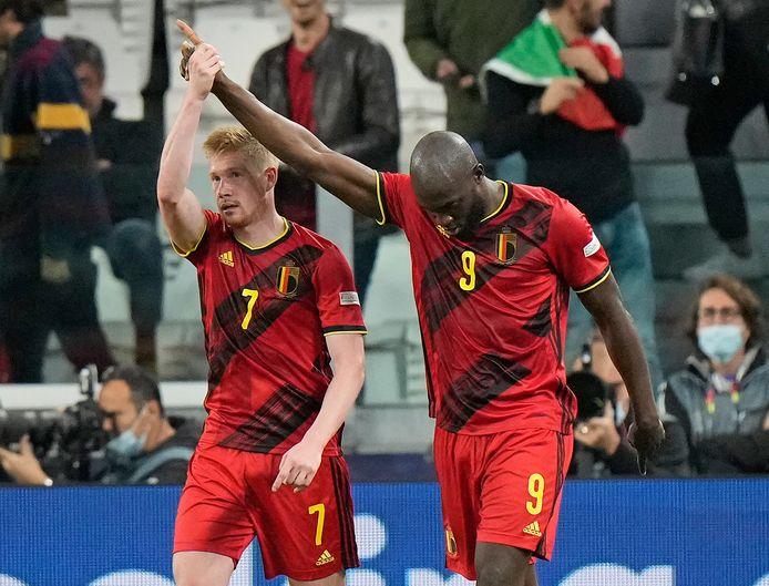 KDB et Lukaku lors de la demi-finale de la Nations League perdue contre la France jeudi soir.