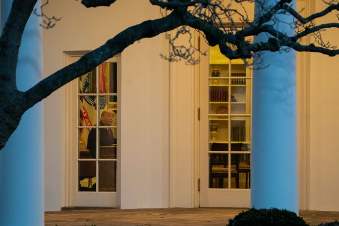 President Donald Trump in het Oval Office vorige week.