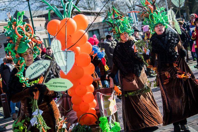 Carnavalsoptocht in Loon op Zand, archieffoto.