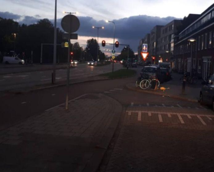 De Marnixlaan in Utrecht tijdens de controle.