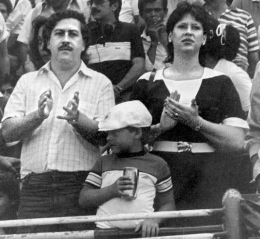 Pablo Escobar et sa femme à Bogota.