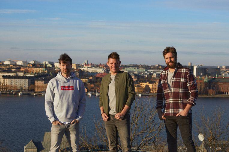 Simon, Kees en Nick in Zweden. Beeld AVROTROS