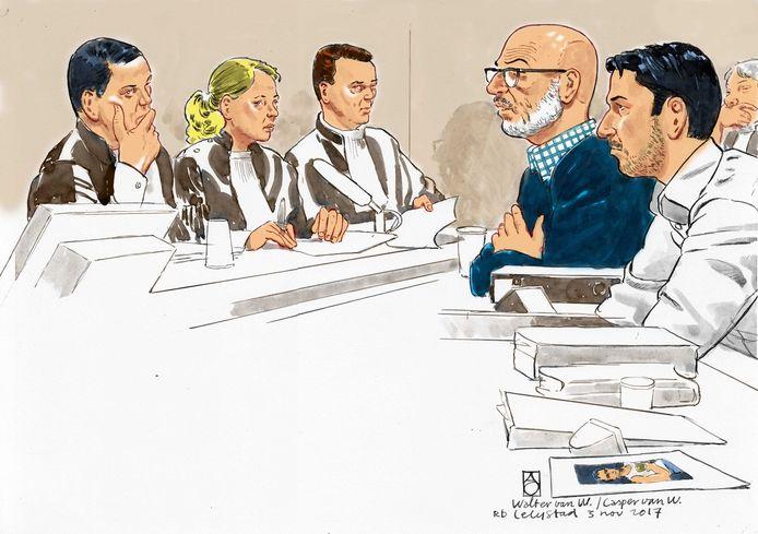 Casper (rechts) en Walter van W. tijdens een eerdere rechtszitting.