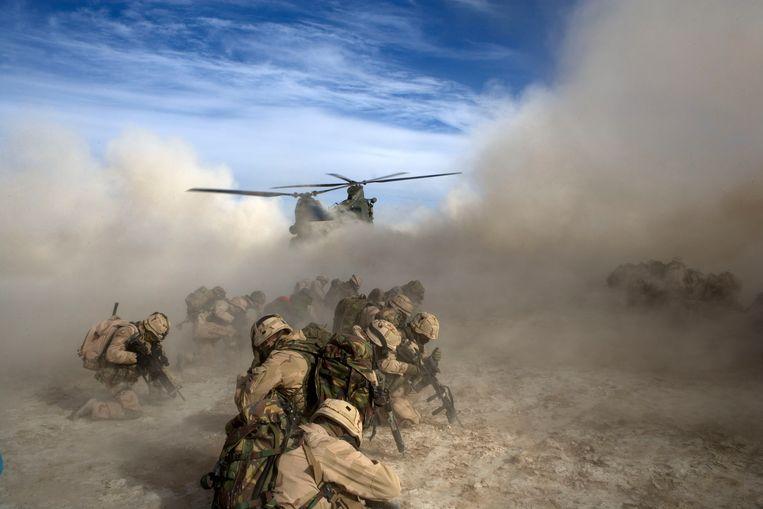 Nederlandse militairen zijn sinds 2002 actief in Afghanistan.  Beeld Defensie/ANP