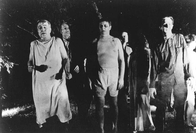 George A. Romero's 'Night of the Living Dead' betekende de definitieve doorbraak van het zombiegenre. Beeld Photo12