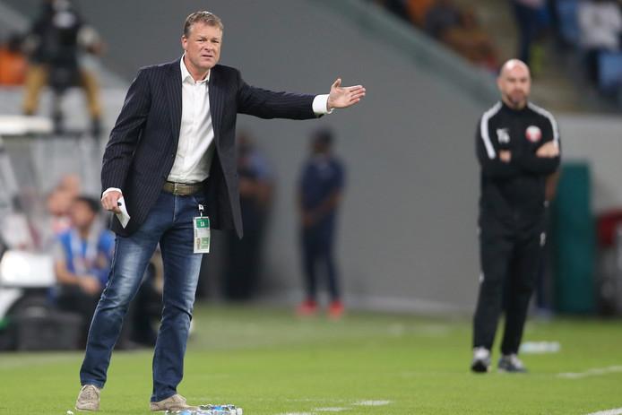 Erwin Koeman als bondscoach van Oman.