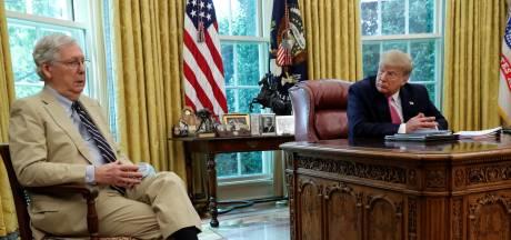 Trump tegen Republikeinen: keer Senaatsleider de rug toe