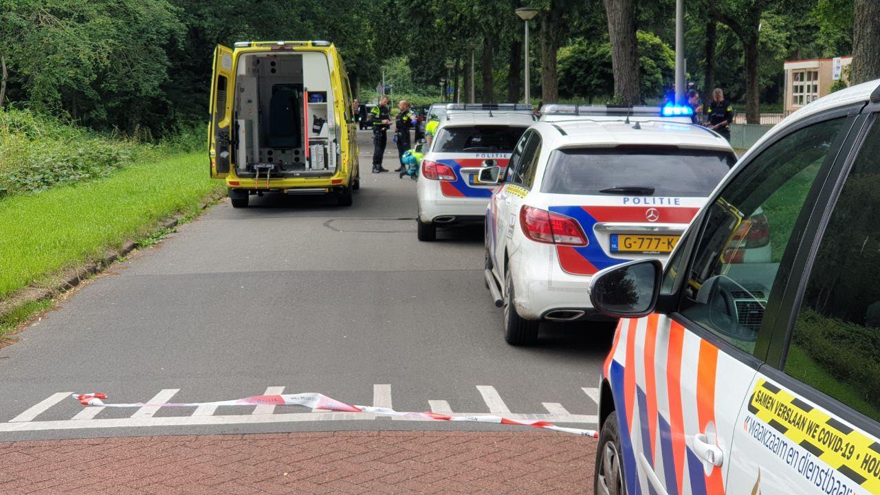 Po.itie en ambulance aan de Zuidhollandlaan