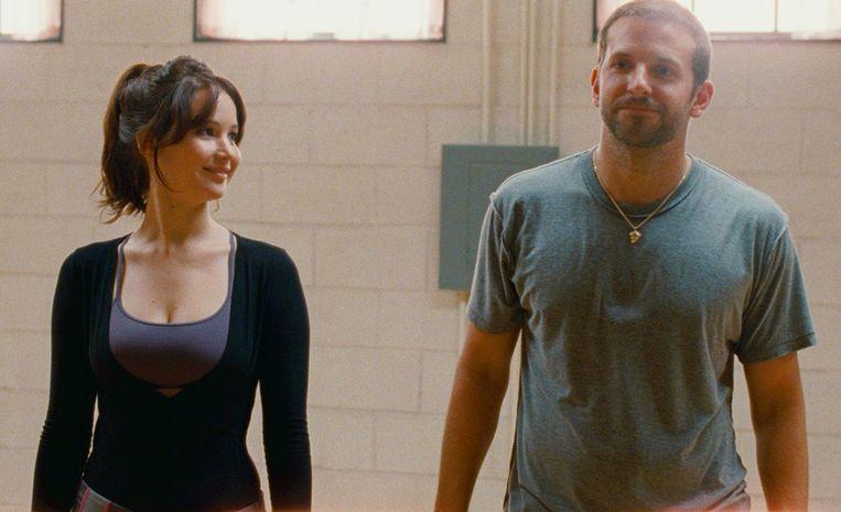 Jennifer Lawrence en Bradley Cooper in 'Silver Linings Playbook'. Beeld